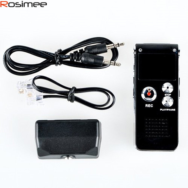 Wholesale- 8GB Voice Recorder USB Charge Dictaphone LCD Recorder Multifunctional Digital Audio Recording MP3 Music Player Espia Gravador