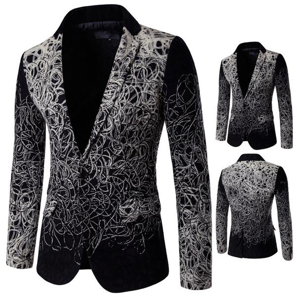 Mens Fashion Suits Einzigartige Herren Blazer 5XL Plus Size Herren Floral Blazer Vintage Casual Suit Jacket