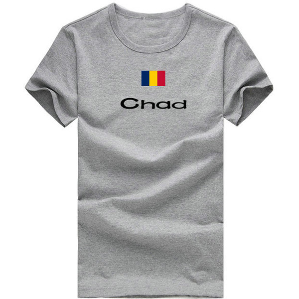 Chad T shirt Hot sport short sleeve Relax durable tees Nation flag clothing Unisex cotton Tshirt