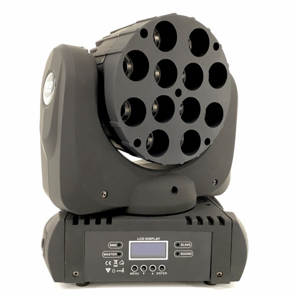 4pcs/lot LED beam moving head light 12x12w rgbw 4in1 color with advanced 9/16 dmx channels for dj disco parties show lights