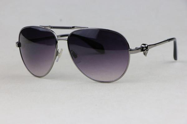 caad7486f4af2 Elegante Confortável Homens Mulheres Geral Óculos De Sol 4210 Prata Oval  armação de metal óculos de