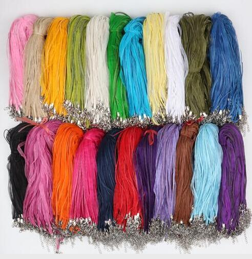 best selling Wax Leather Snake Necklace Beading Cord String Rope Wire Extender Chain with Lobster Clasp DIY Cheap Jewelry