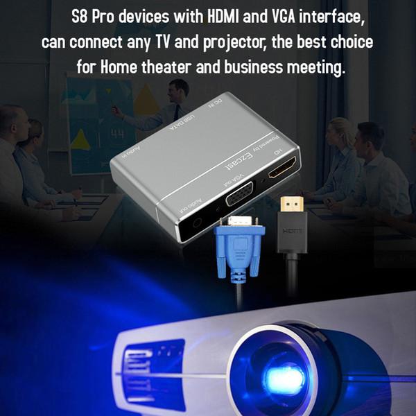 S8 Pro Screen Mirroring HDMI VGA Adapter Lightning to HDMI Digital AV Adapter 1080P USB to VGA HDMI Audio Converter
