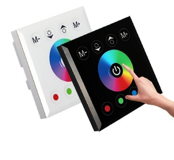 HOTOOK RGB RGBW LED Contrôleur Écran Tactile Fixé Sur Le Mur Commutateur Changeant Pour DC12-24V LED Bande Lumière Lampe de Maison Éclairage