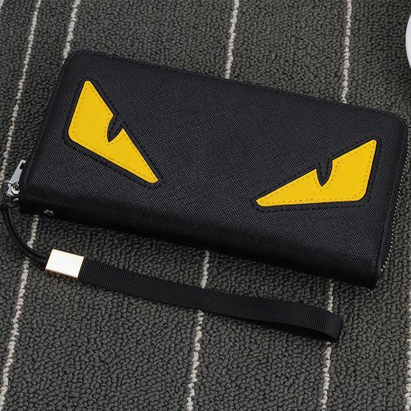 En gros- 2016 Nouvelle marque hommes portefeuille à glissière longue téléphone pochette sac mode de haute qualité garantie yeux bourse d'embrayage portefeuille livraison gratuite