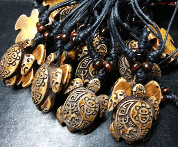 free shipping Yqtdmy 12 PCS Cool Imitation Carving Hawaiian Surfing Turtles Necklace