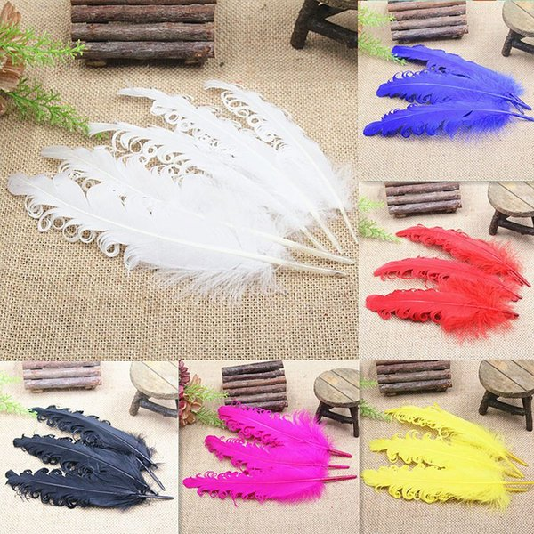 20pcs mixed color color curly Goose Feather Halloween Christmas wedding costumes hat Decorative materials Feather 6-8inch