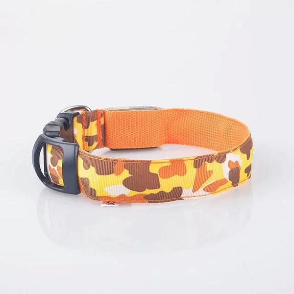 Camouflage pattern design Pets Dog Collars Safety Nylon LED Collar Flashing Light-up Glow Collar dog accessories dog collar led light