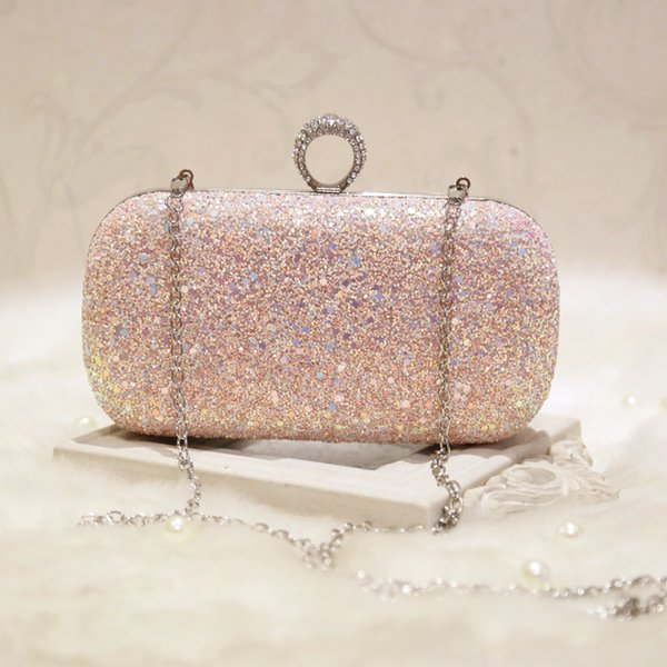 Evening Bag Girl Rhinestones Fashion Figner Ring Party Bag Sparkly ...