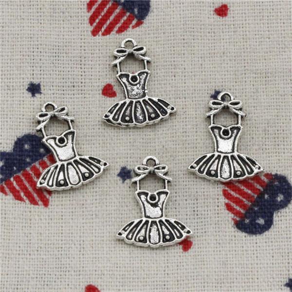 Wholesalecs- 186pcs Charms ballet tutu dress skirt 20*16mm Pendant,Vintage Tibetan Silver,For DIY Necklace&Bracelets Jewelry Accessories