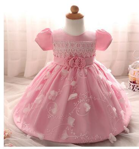 Chrismas Toddler Girls Dress Rose Flower Colorful petals Gauze Baby Tutu Dresses Sleeveless Kids Vest Princess Dress Costumes