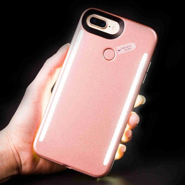 Newest LED Light phone Cases Phone Double Sides Light Battery Case For iphone 7 6 6s plus Note 7 With Retail Package free DHL