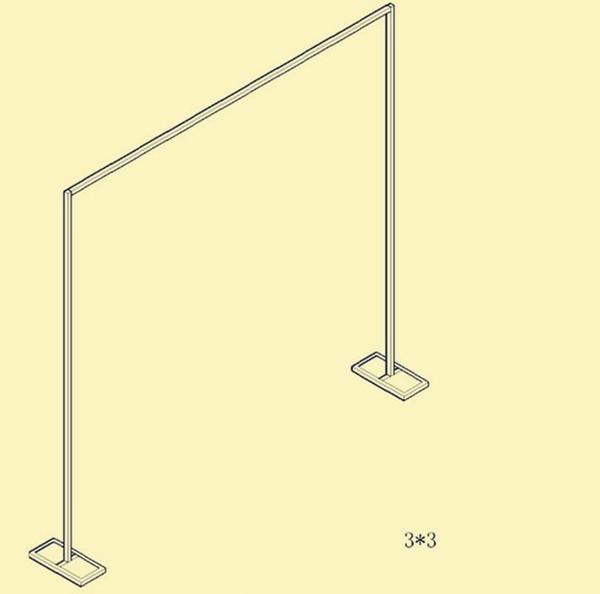 Stainless steel retractable background bracket of the wedding background the curtain of the curtain frame free shipping WQ09