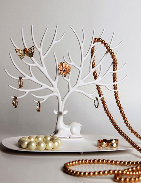 My Little Deer Tray Accessories Tree Necklace Earring Ring Watch Key Stuff Organizer Jewelry Display Stand Wedding Decoration Favor Free DHL