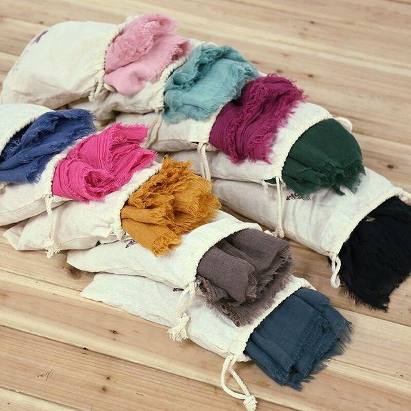 23 colors Beach Sarongs Scarves Windproof Cotton scarf Beach Blanket Casual Fashion Round Bikini Cover Ups Beachwear Turban With storage bag
