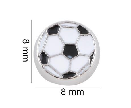 20PCS/lot Floating Locket Charms Sport Soccer Ball Fit For Glass Magnetic Locket Jewelry Making