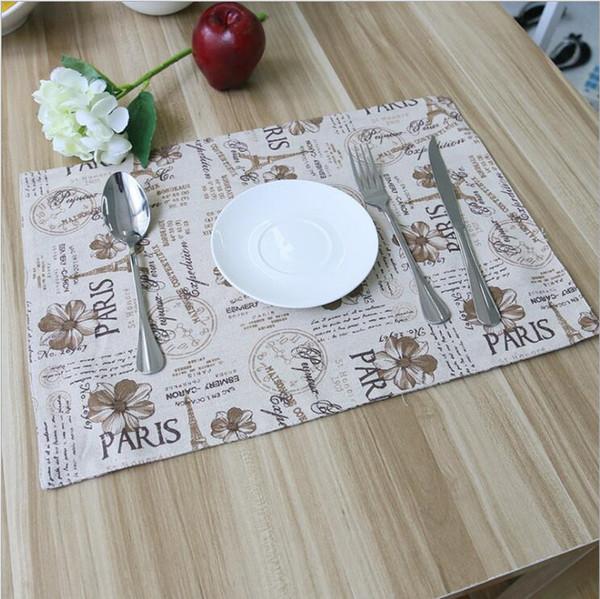 Wärmedämmung Paris 6 Großhandel Set Weiß Esszimmer Pad Von Clissic Für Eiffelturm Rutschfeste Tischsets Waschbar Muster Küche n8wkP0O