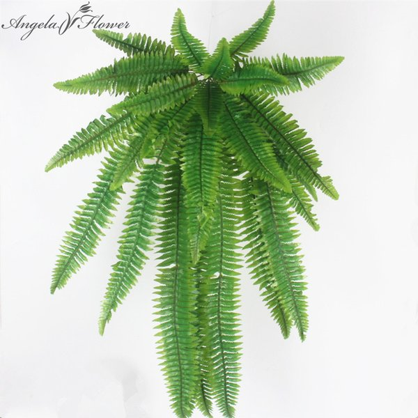 Simulation Flower Adornment Grass Green Plant Pot Plants Hanging Row Grass Fern Leaf Persian Arranging Flowers With Leaves