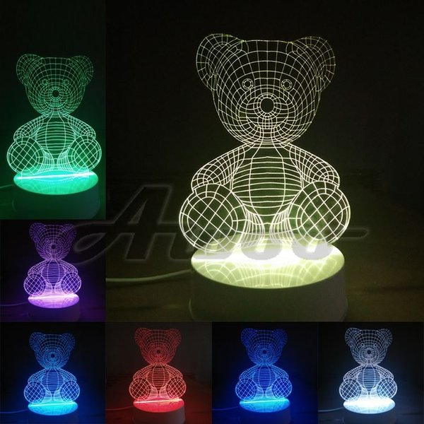 Christmas 2019 Love Colors Bedroom Baby LED Gift Night Fst1688 Table Lamps Party From Light Children Lamp For Toys 3D Lights Illusion Bear With OuTZiPkX