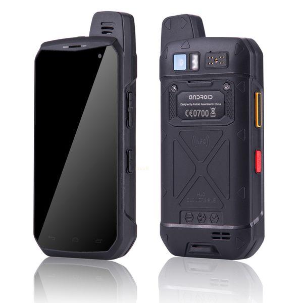 teléfono 4G LTE walkie talkie UNIWA B6000 Octa Core 4 GB de RAM 64 GB ROM 5000mAh NFC Android 6.0 de doble cámara de IP68 a prueba de agua caliente Venta Smartphone