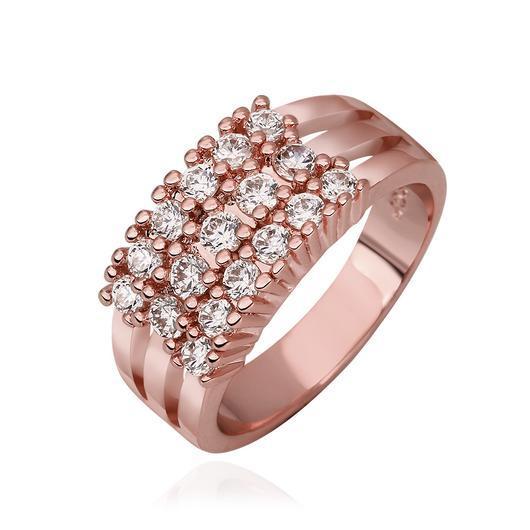 Inalis 18 K Rose Gold Plated Elegant Ring