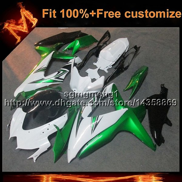 23colors+8Gifts Injection mold green black motorcycle cowl for Suzuki GSX-R600750 08 10 GSXR600 2008 2010 ABS fairing Plastic