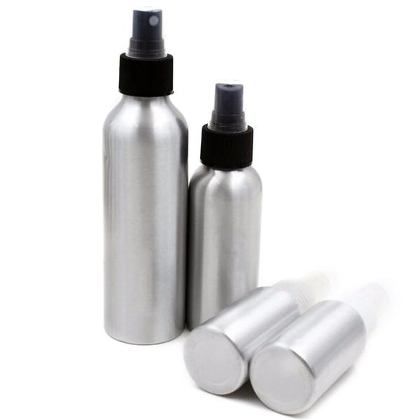 Bottiglie spray in alluminio per profumo Contenitori per il trucco cosmetico ricaricabile per imballaggio 40 ml / 50 ml / 100 ml / 120 ml / 150 ml / 250 ml