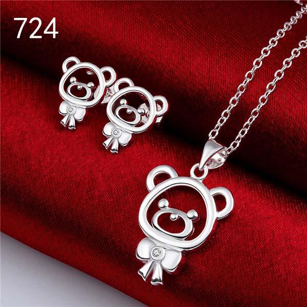 brand new women's gemstone 925 silver jewelry sets same price diffrent style GTS63 free shipping