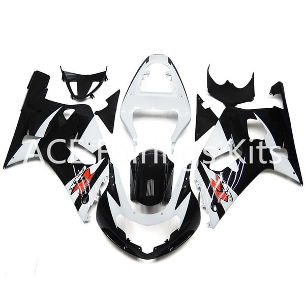 3 cadeaux gratuits Nouveaux kits de carénage de moto ABS Hot Injection 100% Fit Pour Suzuki GSXR600 GSXR750 K1 00-03 2000 2001 2002 2003 Noir Rouge
