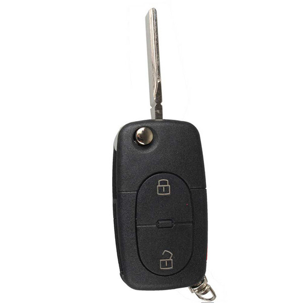 3 Button Panic Folding Remote Key Fob Case For Audi A3 A4 S4 Uncut Key Shell Tire Pressure Alarm car-styling
