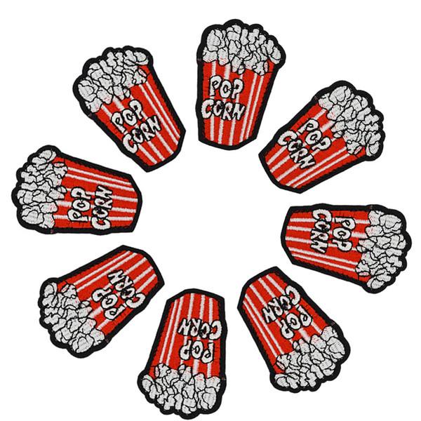 Diy patlamış mısır yamaları giyim demir işlemeli yama aplike üzerinde demir yamalar dikiş aksesuarları rozeti çıkartmalar giysi çantası