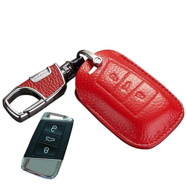 Red matel keychain