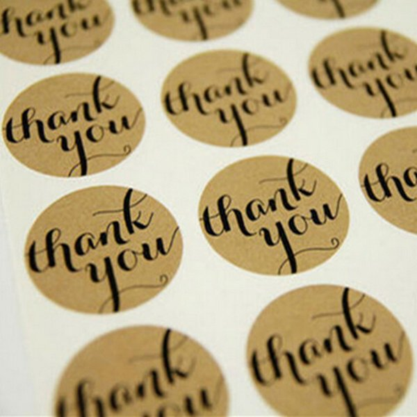 Wholesale-Cake Candy paper tags 1Sheet Diameter 3CM For DIY Hand Made Gift /Thank You love self-adhesive stickers kraft label sticker
