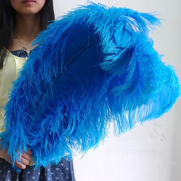 Wholesale 100pcs 10-24inch/25-60cm Sky Blue Ostrich feather for wedding centerpiece party decoraction event festive decor supply TNM-00021