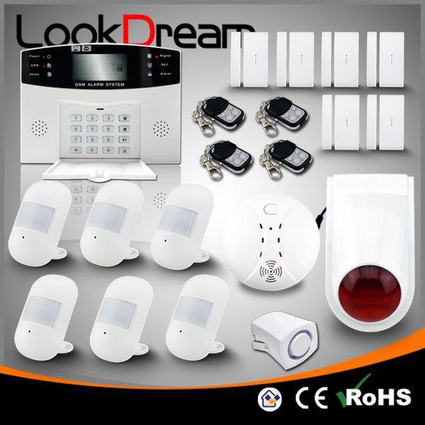 LookDream Smart Security Wireless GSM sistemas de alarma para el hogar antirrobo Companies Director Sales Low Consumption Power Home Safe