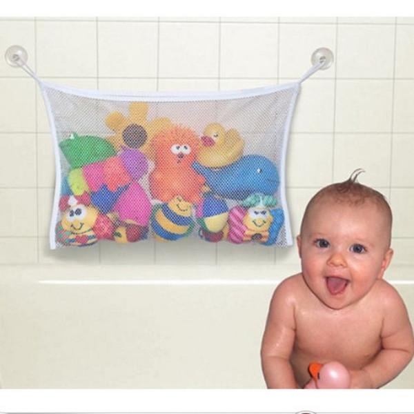 Großhandels-nützlicher weißer Speicher-Beutel kann über Wand-Baby-Spielwaren-Maschen-Bad-Badewannen-Puppen-Organisator-Saug-Badezimmer installiert werden