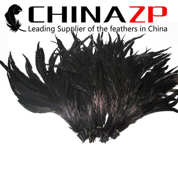 Premium Quality CHINAZP 35~40cm(14~16inch) 50Pcs/lot Special Multicolor Rooster Tail Feather Dyed for Weeding Decoration