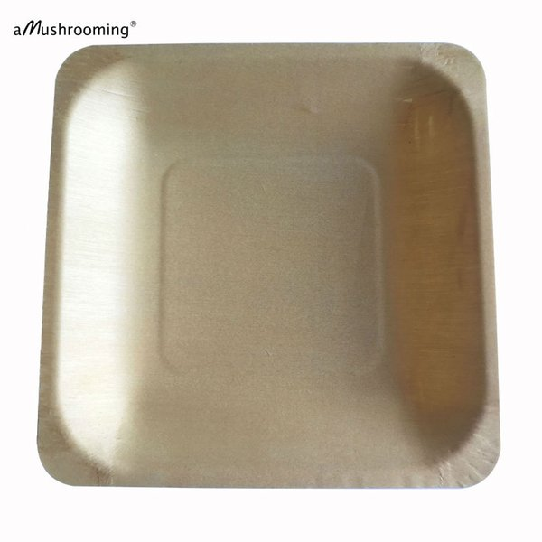 2019 Wholesale 14cm Biodegradable Compostable Disposable Wood Plate Square Plate Wedding Party Plate Baby Shower Buffet Restaurant From Dalihua