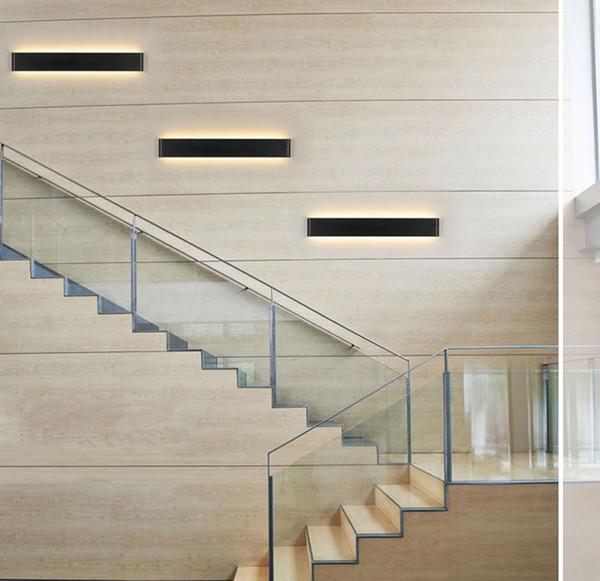 Acheter Moderne LED Mur Escalier Lampe De Chevet Mur Lumière Salle De Bains  Miroir Lumière Couloir Escaliers Chevet En Plomb Déco Lumière De $33.32 Du  ...