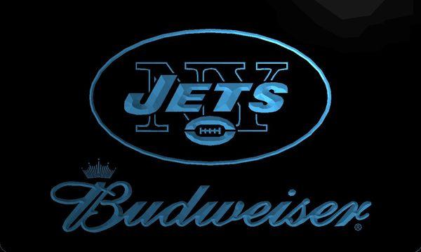 LS2015-b-Jets-bar-Budweisor-Neon-Light-Sign Décor Livraison gratuite Dropshipping gros 6 couleurs à choisir