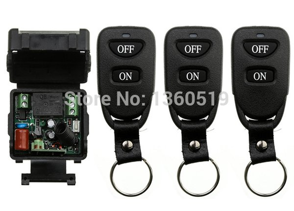 Wholesale- AC220V 1CH 10A RF Wireless Remote Control Switch System teleswitch 315/433 MHZ Transmitters + Receiver, Latch/Momentary/Toggle