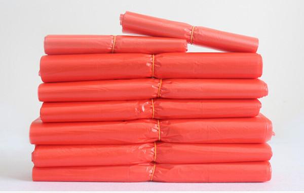 Le gilet rouge met en sac les sacs en plastique portatifs matériels frais imperméables avec le bleu et le noir rouges pour le stockage alimentaire faisant des emplettes ou l'emballage de la litière Customiz