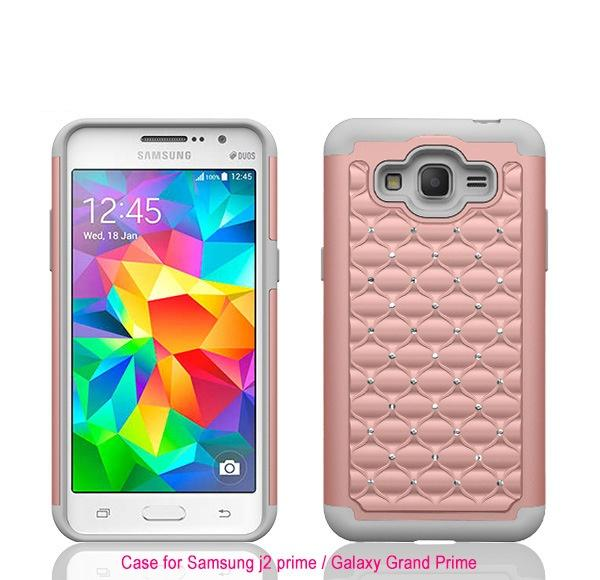 new style bc5b1 a34e0 Luxury Billing Diamond Combo Cell Phone Hybrid Case Cover For Samsung  Galaxy J2 Prime Skin Shockproof Personalized Cell Phone Case Waterproof  Cell ...
