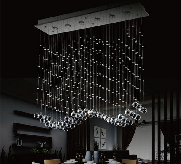 A wave chandelier looks like this