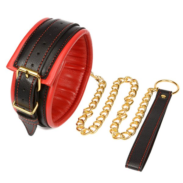 Sex Bdsm Collar With Leash Slave Collar Leather Bdsm Bondage Restraints Erotic Toys Adult Sex Toys For Couples High Quality
