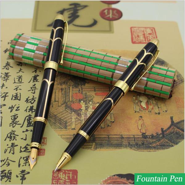 Оптовая продажа-1 шт. дизайн Моды металла бизнес pen студент офис подарок ручка чернила перо Iraurita авторучка канцелярские 2000
