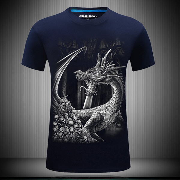 Fat mens summer tees shirt running shirts streetwear designer clothes short sleeve personality 3d t shirts plus size loose print for men