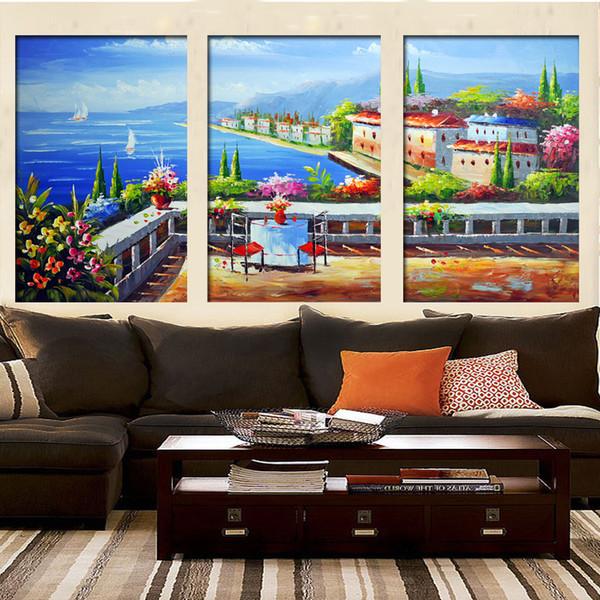 Reine Handgemalte Ölgemälde Der Gemeinsame Europäischen Mediterranen  Ländlichen Stil Dekoration Malerei Landschaften Dekoration Malerei  Großhandel