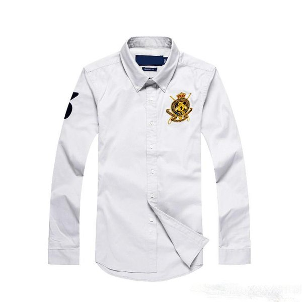 POLO 2018 cheap new autumn and winter men's long-sleeved 100% cotton quality is very good, the United States shirt Asian size S ----- 2XL