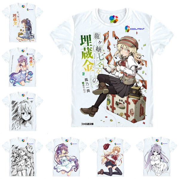 Anime Shirt Nanana's Buried Treasure T-Shirts Multi-style Short Sleeve Nanana Ryugajo, Tensai Ikkyu Cosplay Motivs Hentai Shirts
